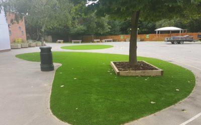 Heston Primary School artificial lawn