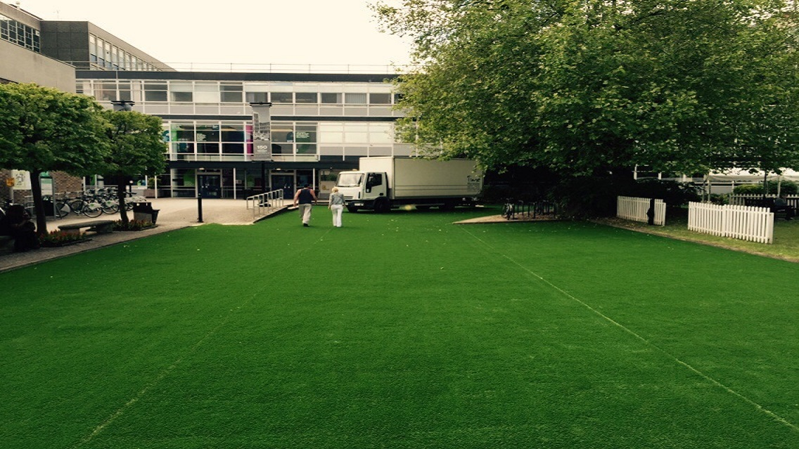 PGSD artificial grass laying at Oxford Brookes University 2