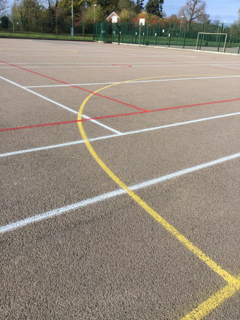 Line marking service for schools